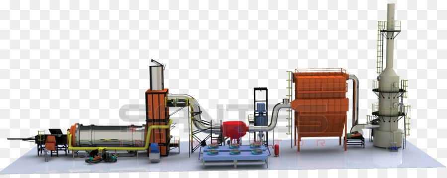 Установка для сжигания твердых отходов