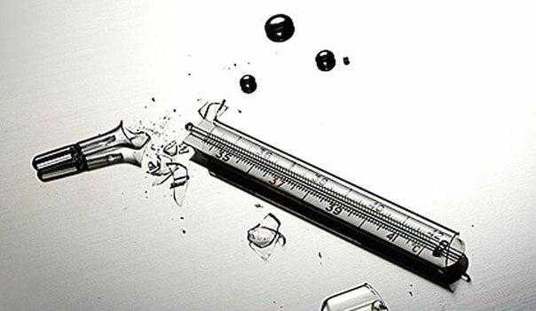 Как правильно утилизировать разбитый градусник?