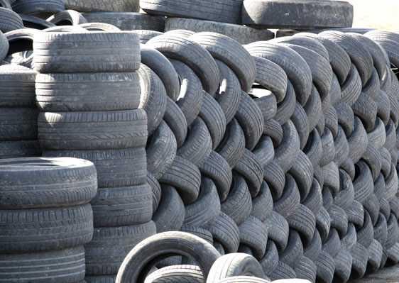 Склад автомобильной резины, подготовленной к переработке