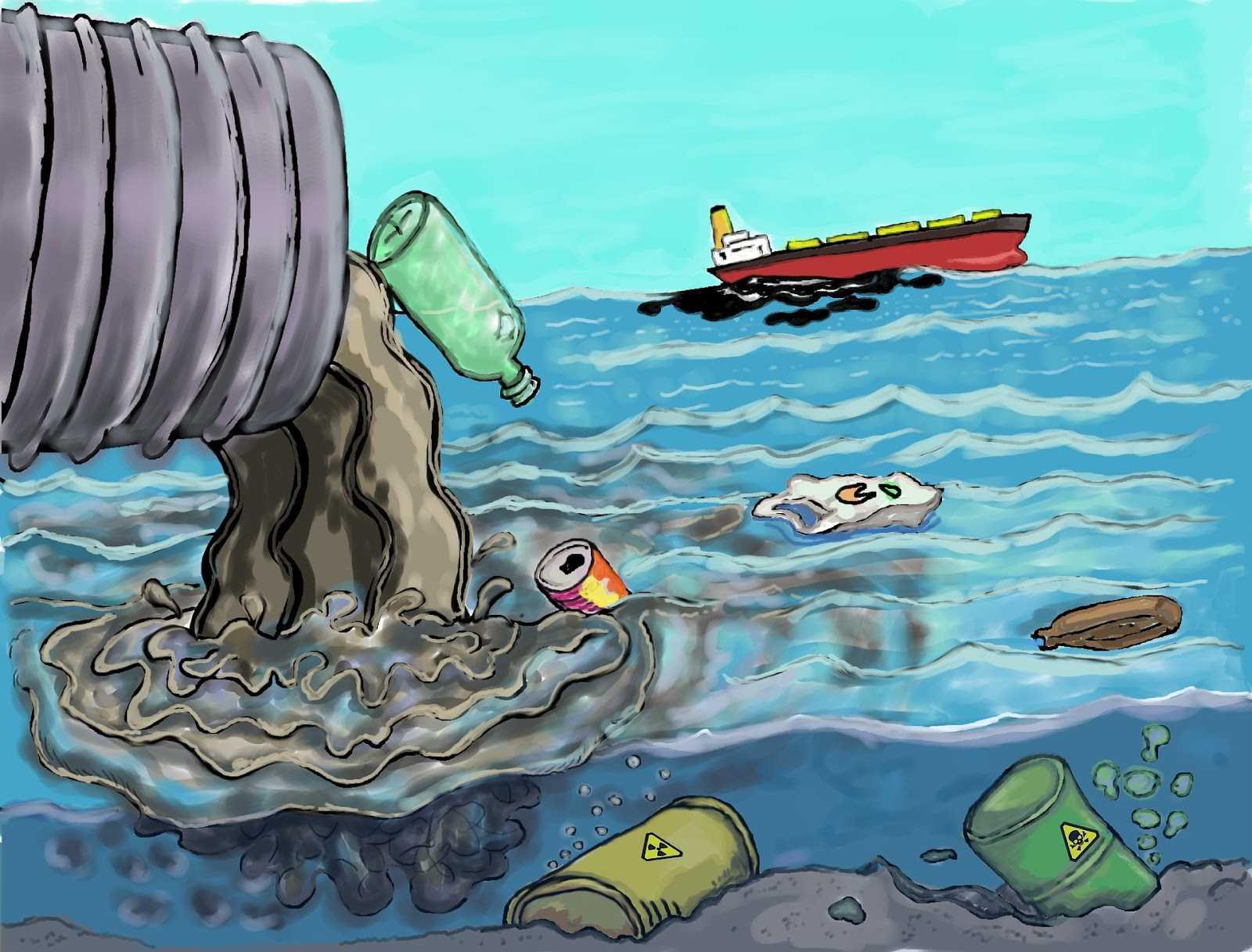 Основные загрязнители воды: естественные и антропогенные
