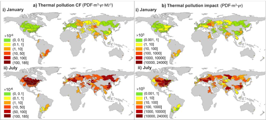 Карта теплового загрязнения