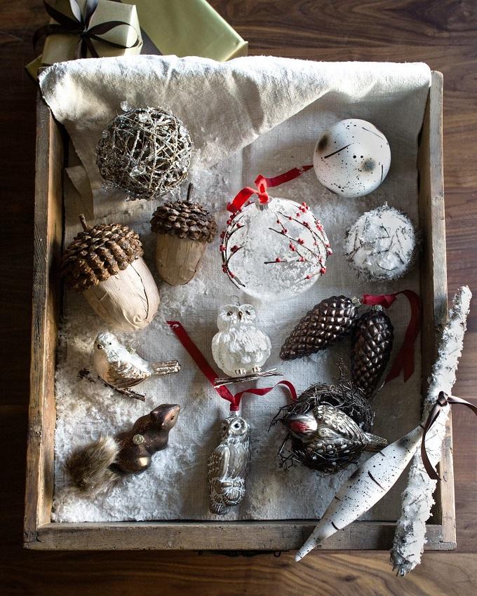 Натуральные украшения на елку