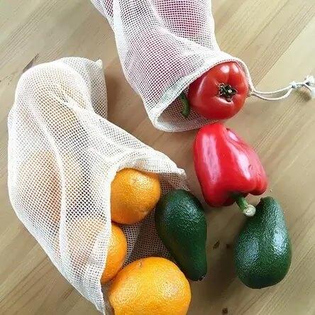 Используйте экомешочки для фруктов